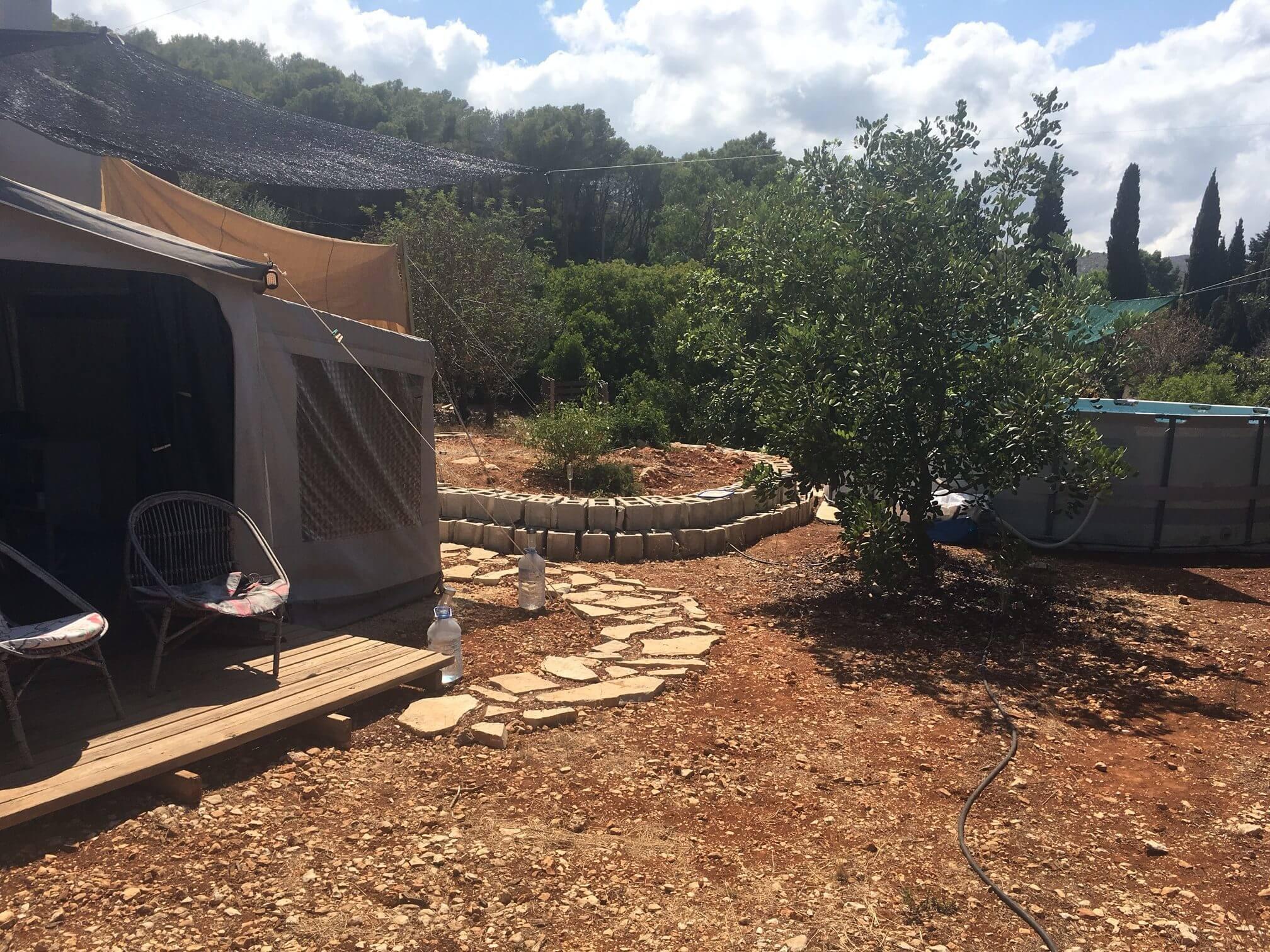 Retreat Spanje, slapen in een caravan